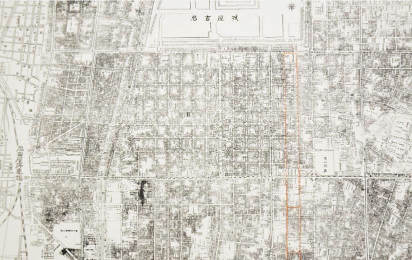 1929(昭和4)年ころの住宅地図。