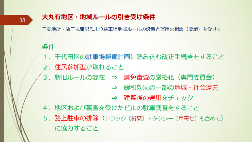 大丸有地区・地域ルールの引受条件