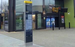 レジブルロンドン サイン例:徒歩5分で移動可能な範囲を円で表示 ロンドン交通局HPより