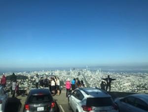 ツインピークスよりサンフランシスコ市街を望む