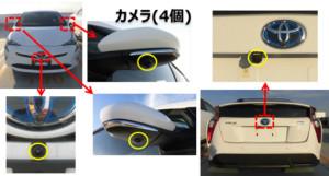 図8.JARI実験車両の車載センサー